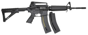 Chiappa M4 Carbine 500063, 22 Long Rifle, 16 in, Semi-Auto, M4 Fixed Stock, Black Finish, 28+1 Rds