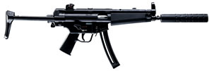 Walther H&K MP5 A5 Rifle  5780310, 22 LR, 16.2 in, Adj Telestock, Black Finish, 25+1 Rd