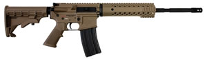 Diamondback DB-15 300BO CA Compliant Rifle DB15300FDECA, 300 AAC Blackout/Whisper, 16 in, Semi-Auto, FDE 4-Pos Collapsible Stock, Flat Dark Earth/Black Finish, 10+1 Rds