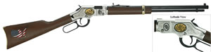 Henry Golden Boy Coal Miners Tribute Rifle H004CM2, 22 LR/Short, 20 in BBL, Lever Act, Walnut Stock, Blued BBL/Nickel Rcvr, 16 LR/21 Short Rds