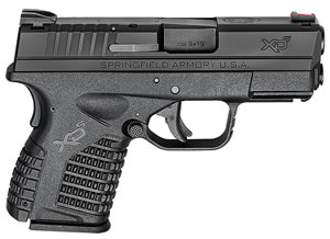 "Springfield XDS9339BE XDS Essential Pistol, 9mm, 3.3"" BBL, Double Act, Black Polymer Grips, Fib Opt Front, Fixed Dovetail Rear Sights, Black Finish, 7+1 Rds"