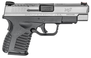 "Springfield XDS9409SE XDS Bi-Tone Pistol, 9mm, 4"" BBL, Double Act, Black Polymer Grips, Fib Opt Front, Fixed Dovetail Rear Sights, Black Finish, 7+1 Rds"