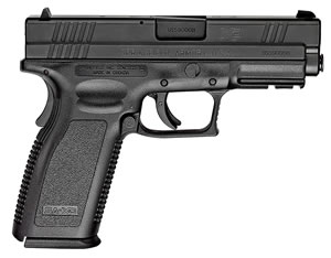 "Springfield XD9103 XD Essential Full Size Pistol, 357 Sig, 4"" BBL, Double Act, Black Polymer Grips, 3-Dot Dovetail Sights, Black Finish, 10+1 Rds"