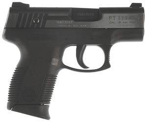 "Taurus 1140039PDT140 Millennium Pro Compac Pistol, 40 S&W, 3.3"" BBL, Single/Double Act, Syn Grips, Heinie Front, Straight 8 Rear Sights, 2 Tone Finish, 10+1 Rds"