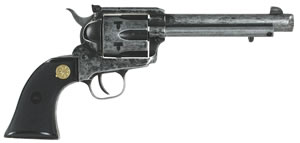 "Puma PCR1873225APTXC M-1873  Revolver, 22 Long Rifle/22 WMR, 5.5"" BBL, Single Act, Black Grips, Fixed Sights, Antiqued Finish, 6 Rds"