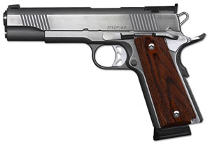 "Dan Wesson 01900 Pointman Seven CA Compliant Pistol, 45 ACP, 5"" BBL, Single Act, Cocobolo Grips, 3-Dot Adj Sights, Stainless Finish, 8+1 Rds"