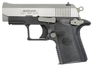 "Colt O6796 Mustang Lite Two Tone Pistol, 380 ACP, 2.7"" BBL, Single Act, Black Polymer Grips, Blade Front, Dovetail Rear Sights, Black Finish, 6+1 Rds"