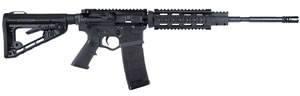 "ATI GOMNIHQA556 Omni Hybrid AR-15 Quad Rail Rifle, 5.56 NATO, 16.1"" M4 Profile BBL, Semi Auto, Syn Black Stock, Blued Finish, 30+1 Rds"