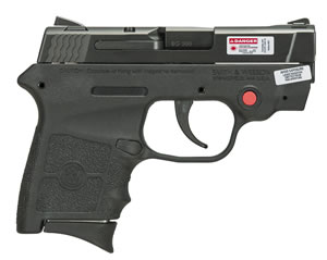 "Smith & Wesson M&P Bodyguard w/Crimson Trace Laser Pistol 10265, 380 ACP, 2.8"" BBL, Striker Fire, Integral Grips, Adj w/Crimson Trace Laserguard Sights, Black Finish, No Safety, 6+1 Rds"
