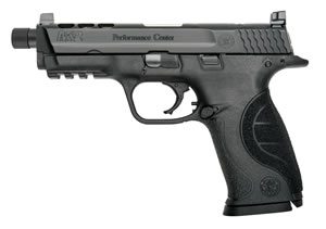 "Smith & Wesson M&P 9 Performance Center Ported Pistol 10267, 9mm, 4.3"" Threaded BBL, Striker Fire, Poly Grips, White-Dot Sights, Black Finish, 17+1 Rds"