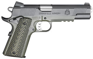 "Springfield PX9110MLP 1911 Loaded Marine Corps Operator Pistol, 45 ACP, 5"" BBL, Single/Dbl Act, OD Green G10 Grips, 3-Dot Combat Fixed Tritium Sights, Olive Drab Finish, 7+1 Rds"