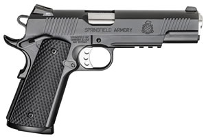 "Springfield PX9105LLP 1911 Loaded Operator Pistol, 45 ACP, 5"" BBL, Single Action, Black G10 Grips, 3-Dot Combat Fixed Tritium Sights, Black Finish, 8+1 Rds"