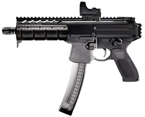 "Sig Sauer MPX Pistol MPX-P-9-KM, 9mm, 8"" BBL, Semi-Auto, Poly Grips, KeyMod Rail, Flip-Up Sights, Black Finish, 30+1 Rds"