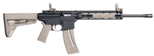 "Smith and Wesson M&P15-22 Sport Rifle 10210, 22 LR, 16.5"" Carbon Steel BBL, Semi Auto, Syn Flat Dark Earth Stock, Black Finish, 25+1 Rds"