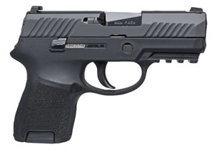 "Sig Sauer P320 SubCompact Pistol 320SCR-9-B, 9mm, 3.6"" BBL, Double Act, Poly Grips, Contrast Sights, Black Finish, 12+1 Rds"