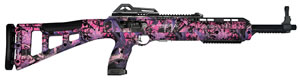 "Hi Point Carbine TS Rifle 495TS PI, 44 ACP, 16.5"" BBL, Semi-Auto, Skeletonized Stock, Pink Camo Finish, 10 Rds"
