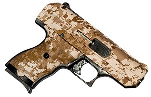 "Hi Point Pistol 916DD, 9mm, 3.5"" BBL, Polymer Grips, 3-Dot Sights, Desert Camo Finish, 8 Rds"