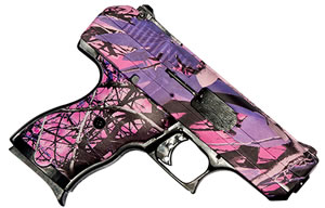 "Hi Point Pistol 916PI, 9mm, 3.5"" BBL, Polymer Grips, 3-Dot Sights, Pink Camo Finish, 8 Rds"