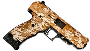 "Hi Point Pistol 34010DD, 40 S&W, 4.5"" BBL, Polymer Grips, 3-Dot Sights, Desert Camo Finish, 10 Rds"