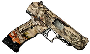 "Hi Point Pistol 34510WC, 45 ACP, 4.5"" BBL, Polymer Grips, 3-Dot Sights, Woodland Camo Finish, 9 Rds"