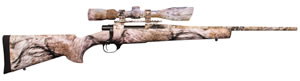 Howa Hogue Ranchland Compact Rifle Package HGR90227YOTE+, .223 Rem, 20 in BBL, Bolt Action, YOTE Hogue Overmolded Stock, YOTE Thunder Mountain Camo Finish, w/Nikko 2.5-10x42 Scope