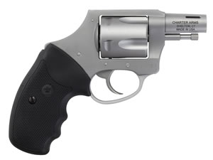 "Charter Arms Bulldog Boomer Revolver 74429, 44 Special, 2"" BBL, Double/Single, Rubber Grips, No Sights, Stainless Finish, 5 Rds"