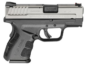 "Springfield XD Mod.2 Sub-Compact Bi-Tone Pistol XDG9822HC, 40 S&W, 3"" BBL, Dbl Act, Poly Grips, Fib Opt Front, Lo-Profile Rear Sights, Bi-Tone Finish, 9+1/12+1 (Grip Ext) Rds"