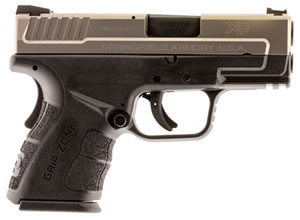"Springfield XD Mod.2 Sub-Compact Bi-Tone Pistol XDG9845S, 45 ACP, 3.3"" BBL, Dbl Act, Poly Grips, Fib Opt Front, Lo-Profile Rear Sights, Bi-Tone Finish, 10+1 Rds"
