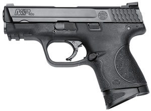 "Smith & Wesson M&P 40C Compact s/Crimson Trace Green Laser Pistol 10177, 40 S&W, 3.5"" BBL, Striker Fire, Poly Grips, White Dot Front/Low Profile Sight, w/Crimson Trace Green Laser, Black Finish, 10+1"
