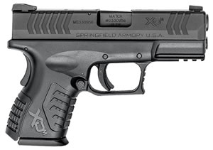 "Springfield XDM 3.8"" Compact Pistol XDM9384CBNJE, 40 S&W, 3.8"" BBL, Dbl Act, Poly Grips, 3-Dot Dovetail Sights, Black Finish, 11 Rds, State Compliant"