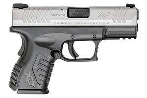 "Springfield XDM 3.8"" Compact Pistol XDM9384CSHCE, 40 S&W, 3.8"" BBL, Dbl Act, Poly Grips, 3-Dot Dovetail Sights, Bi-Tone Finish, 11+1/ 16+1 (Grip Ext) Rds"