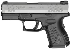 "Springfield XDM 3.8"" Compact Pistol XDM9389CSNJE, 9mm, 3.8"" BBL, Dbl Act, Poly Grips, 3-Dot Dovetail Sights, Bi-Tone Finish, 13 Rds, State Compliant"