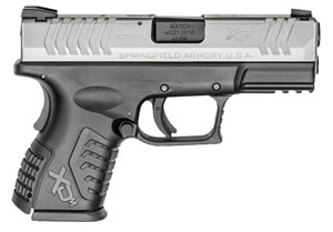 "Springfield XDM 3.8"" Compact Pistol XDM9384CSNJE, 40 S&W, 3.8"" BBL, Dbl Act, Poly Grips, 3-Dot Dovetail Sights, Bi-Tone Finish, 11 Rds, State Compliant"