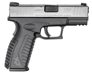 "Springfield XDM Full Size Pistol XDM9384SHCE, 40 S&W, 3.8"" BBL, Dbl Act, Poly Grips, 3-Dot Dovetail Sights, Bi-Tone Finish, 16+1"