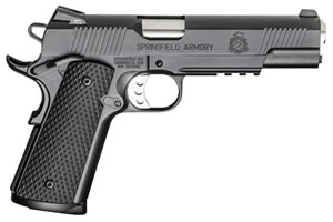 Springfield MC Operator Pistol PX9105MLPCA, 45 ACP, 5 in BBL, Sngl Actn Only, Pachmayr Rubber Grips, Fixed Cmbt Tritium Sights, Olive Drab/Blk Finish, 7 + 1 Rds, CA Compliant