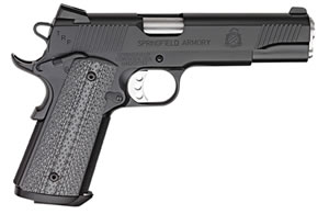 Springfield 1911 TRP Trophy Service Pistol PC9108LPCA, 45 ACP, 5 in BBL, Sngl Actn Only, Comp Grips, Tritium Night Sights, Blk(Armory Kote) Finish, 7 + 1 Rds, CA Compliant