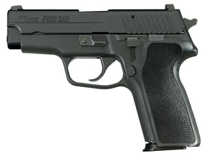 "Sig Sauer E29CA40BSS P229 Carry Pistol, 40 S&W, 3.9"" BBL, Single/Double Act, Black Polymer Grips, Siglite Front, Contrast Rear Sights, Black Finish, 12+1 Rds"