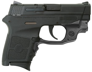 "Smith & Wesson M&P Bodyguard w/Crimson Trace Green Laser Pistol 10178, 380 ACP, 2.8"" BBL, Striker Fire, Integral Grips, Adj w/Crimson Trace Green Laserguard Sights, Black Finish, 6+1 Rds"