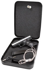 "Hi Point Pistol CF380HSP, 380 ACP, 3.5"" BBL, Double, Black Polymer Grips, 3-Dot Adj Sights, 29 oz Finish, 8+1 Rds, w/Lock Box"