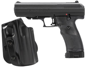 "Hi Point Pistol 34010M5X, 40 S&W, 4.5"" BBL, Double, Black Polymer Grips, 3-Dot Adj Sights, Black Finish, 10+1 Rds, w/Holster"