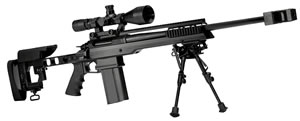 Armalite AR-31 Target Rifle 31BT308, 308 Win, 24 in Chrome Moly BBL w/Brake, Bolt Action, Adjustable Stock, Black Finish, DBM