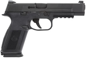 FN Herstal FNS-40L Pistol 66729, 40 S&W, 5 in BBL, Double Act, Black Polymer Grips, Black Finish, 3-Dot Fixed Sights,14+1 Rds
