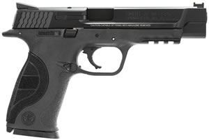 Smith & Wesson M&P 9 Pro Series Pistol 178048, 9mm, 5 inch BBL, Double Act, Integral Grips, Fiber Optic Front, Novak Reduced Glare Rear Sights, Black Melonite Finish, 10+1 Rds