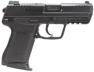 HK 45 LEM V7 Compact Pistol 745037LEA5, 45 ACP, 3.9 inch BBL, Double Act, Black Grips, Night Sights, No Safety, Black Finish, 8+1 Rds