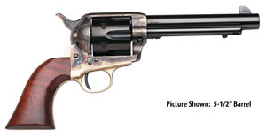 "Taylors Uberti Ranch Hand Revolver 440, 357 Mag, 4.8"" BBL, Single Act, Walnut Grips, Blade Front Sights, Blue/Case Hard Finish, 6 Rds"