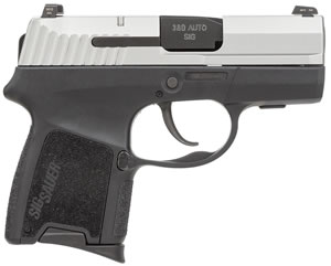 Sig Sauer P290RS SubCompact Pistol 290RS380TSS, 380 ACP, 2.9 inch BBL, Double Act Only, Intg Polymer Grips, Night Sights, TwoTone Finish, 6+1 Rds