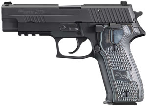Sig Sauer P226 Extreme Pistol 226R9XTMBLKGRYCA, 9mm, 4.4 inch BBL, Single/Double, Hogue Extreme G10 Grips, Night Sights, Black Finish, 10+1 Rds, CA Compliant Model