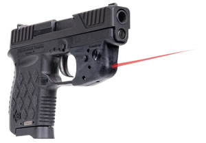Diamondback DB9 Pistol DB9LL, 9mm, 3 in BBL, DOA, Integral Grips, Adj Rear/LaserLyte Laser Sights, Black Finish, 6+1 Rds
