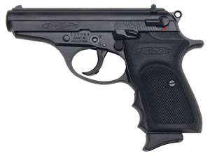 Bersa Firestorm Pistol FS380M, 380 ACP, 3.5 in BBL, Single/Double, Rubber Grips, Blade Front, White Outline Rear Sights, Black Finish, 7+1 Rds, CA Model