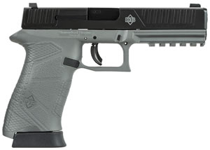 Diamondback DB9FS Pistol DB9FSGG, 9mm,  4.8 in BBL, DOA, Integral Grips, 3-Dot Fixed Sights, Gray/Black Finish, 15+1 Rds